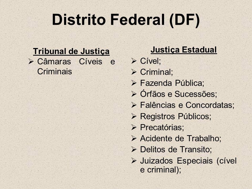 Distrito Federal (DF) Tribunal de Justiça Justiça Estadual Cível;