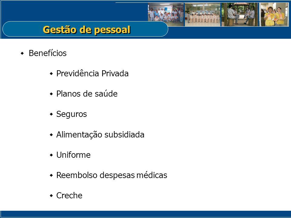 Gestão de pessoal Benefícios Previdência Privada Planos de saúde
