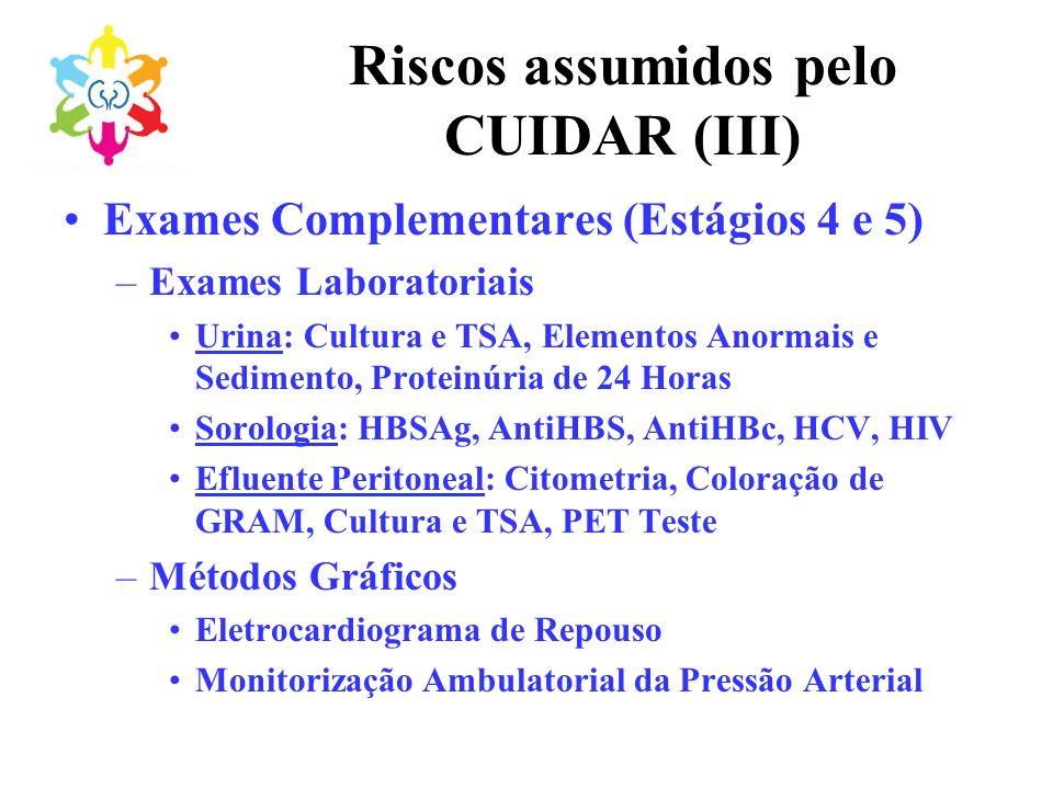 Riscos assumidos pelo CUIDAR (III)
