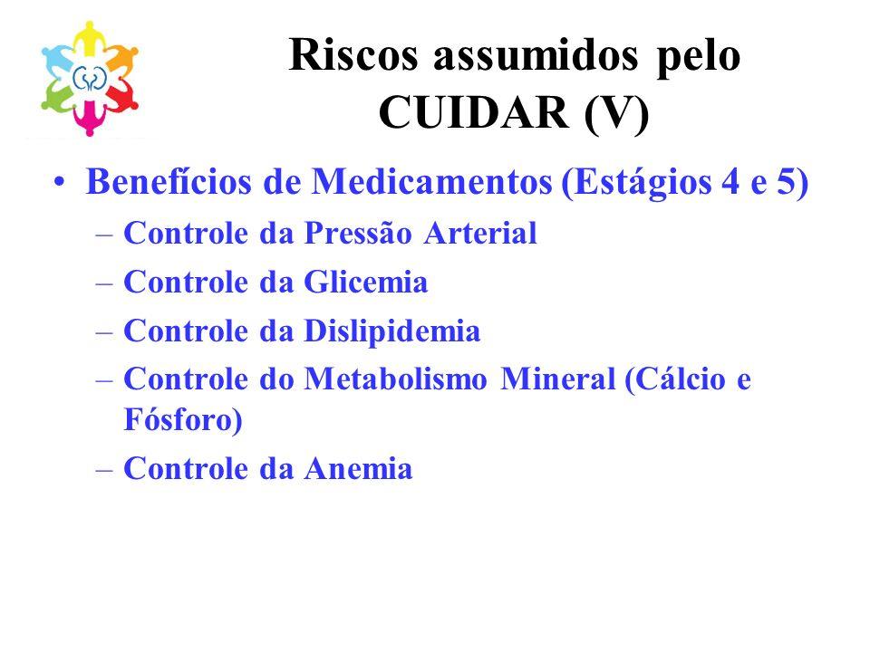 Riscos assumidos pelo CUIDAR (V)