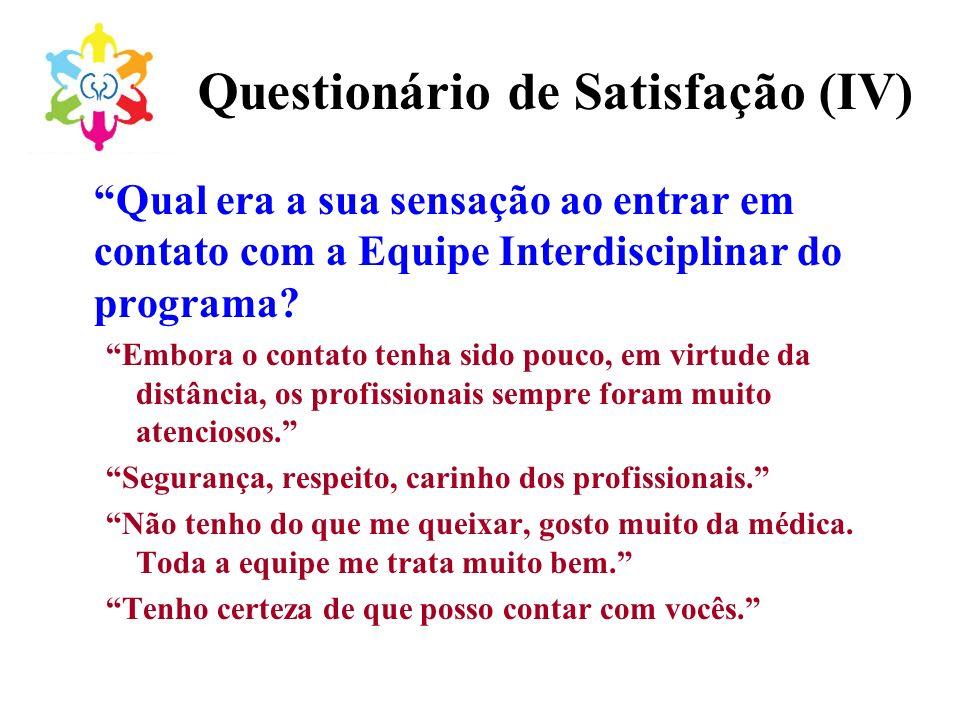 Questionário de Satisfação (IV)