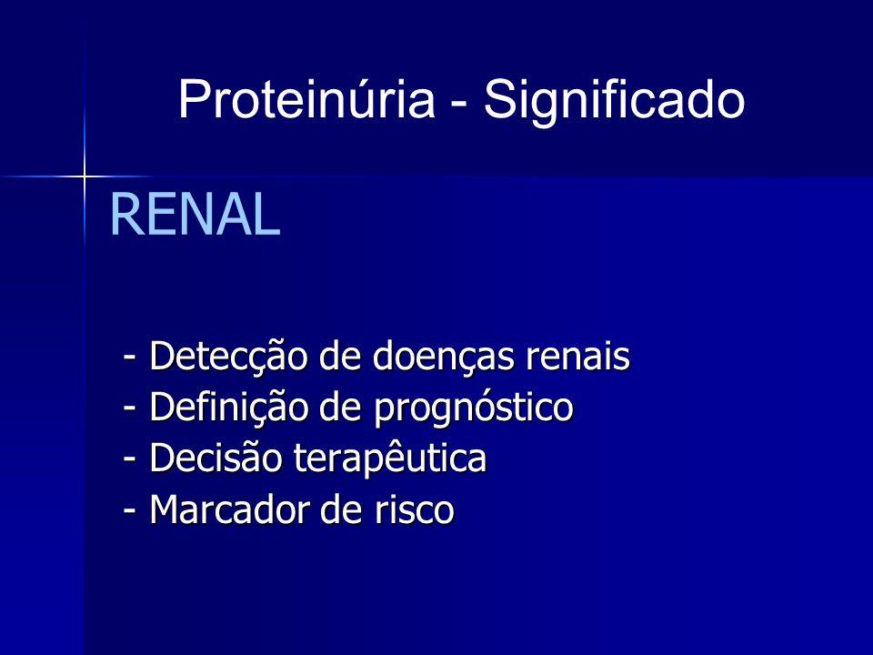 Proteinúria - Significado