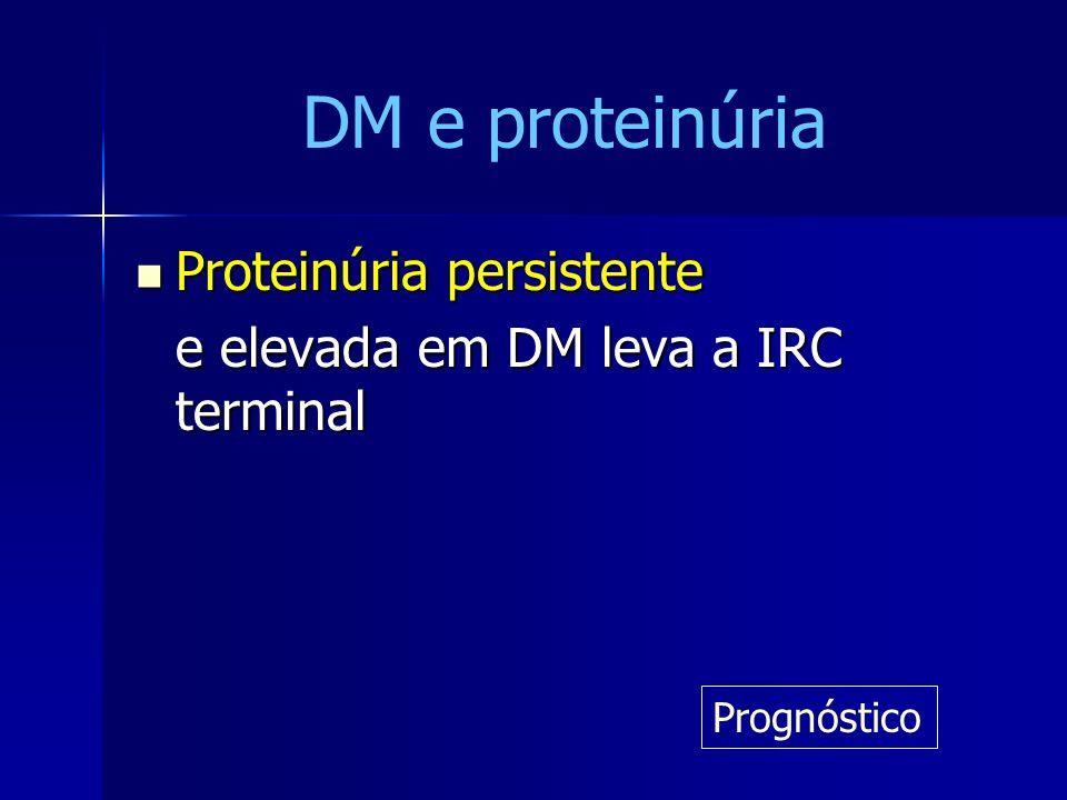 DM e proteinúria Proteinúria persistente