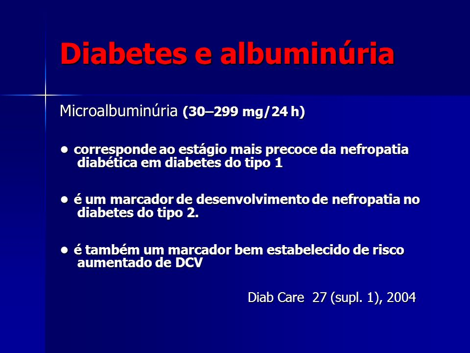 Diabetes e albuminúria