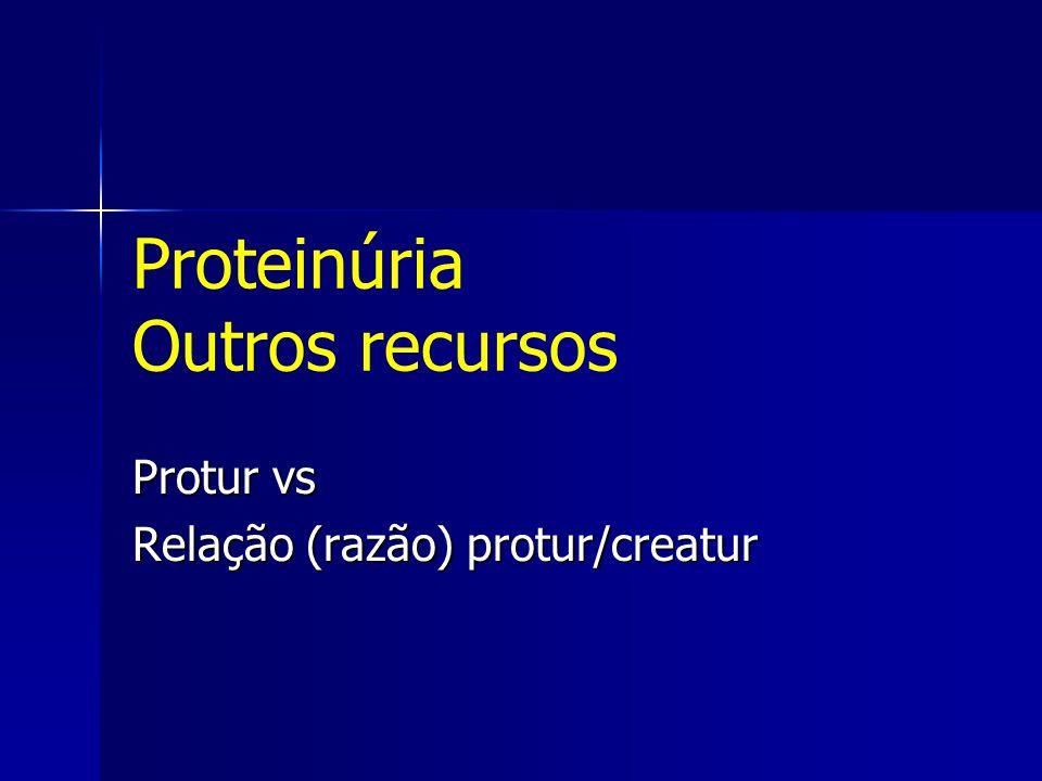 Proteinúria Outros recursos
