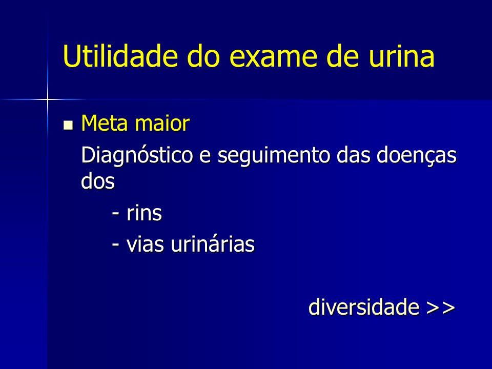 Utilidade do exame de urina