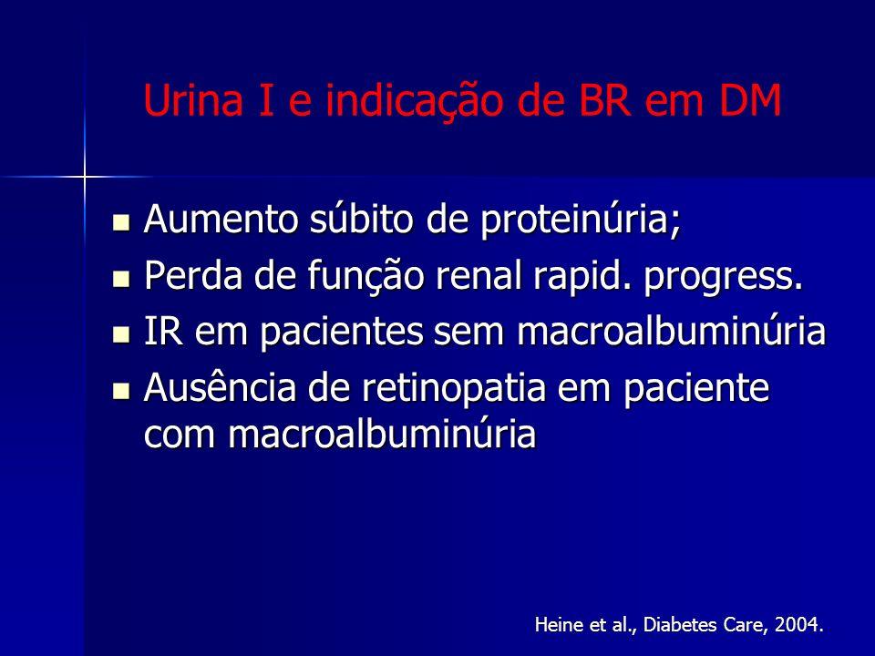 Urina I e indicação de BR em DM