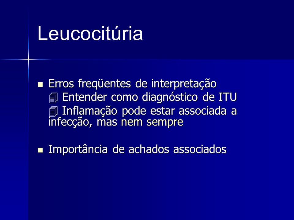 Leucocitúria Erros freqüentes de interpretação