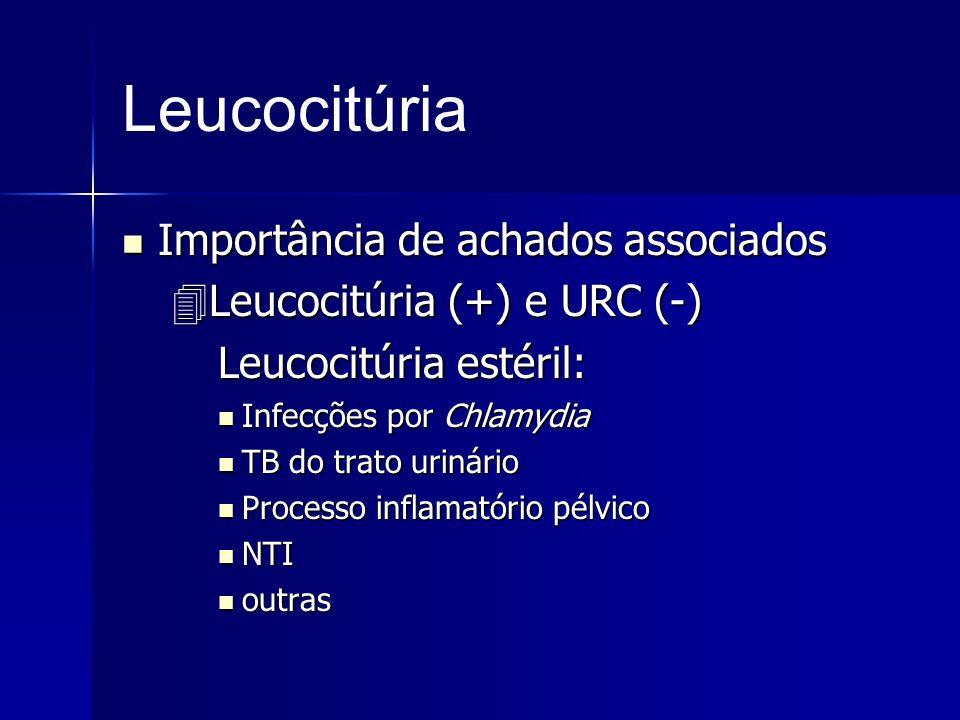 Leucocitúria Importância de achados associados