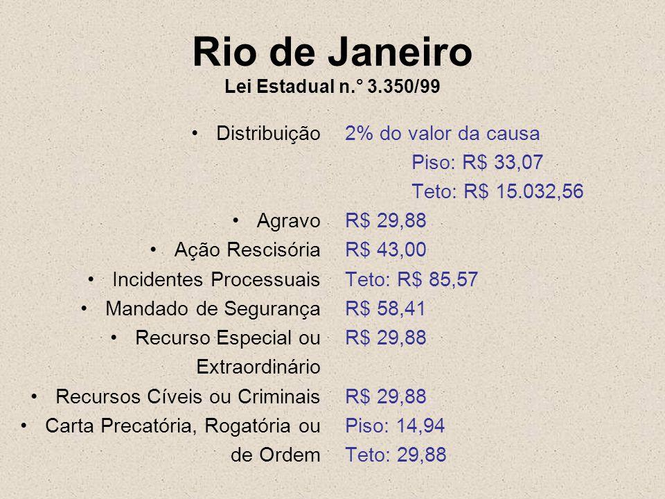 Rio de Janeiro Lei Estadual n.° 3.350/99