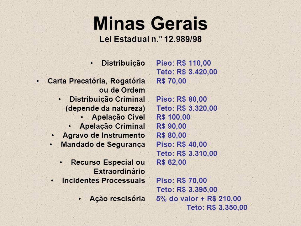 Minas Gerais Lei Estadual n.° 12.989/98