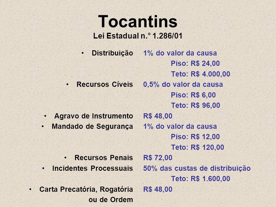 Tocantins Lei Estadual n.° 1.286/01