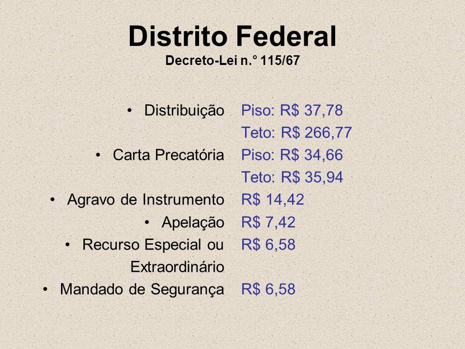 Distrito Federal Decreto-Lei n.° 115/67