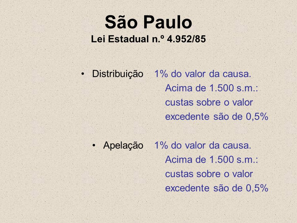 São Paulo Lei Estadual n.º 4.952/85