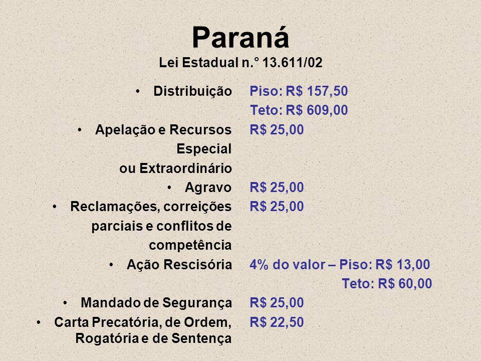 Paraná Lei Estadual n.° 13.611/02