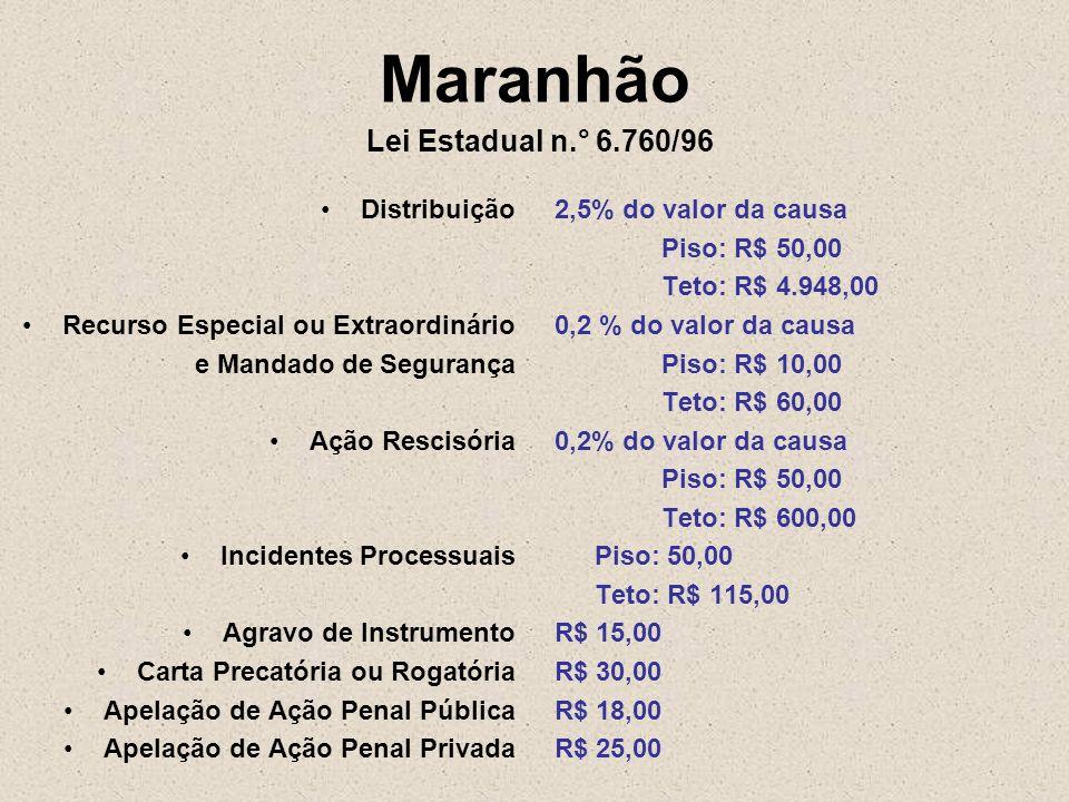 Maranhão Lei Estadual n.° 6.760/96