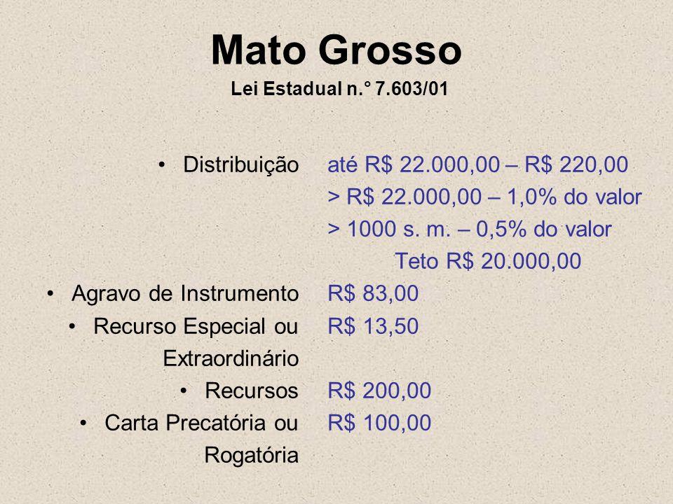 Mato Grosso Lei Estadual n.° 7.603/01