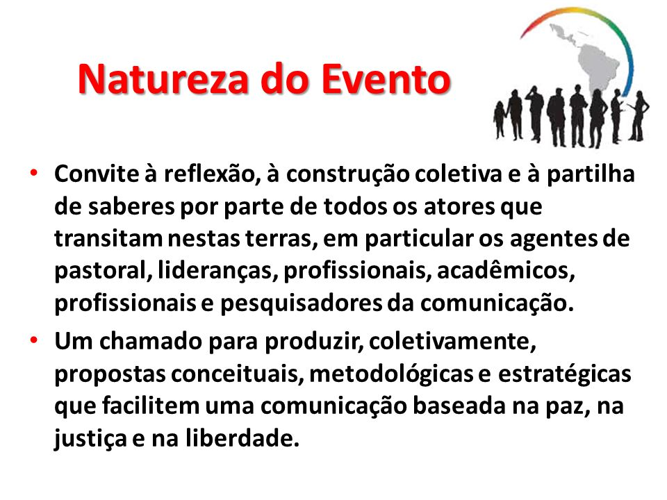 Natureza do Evento