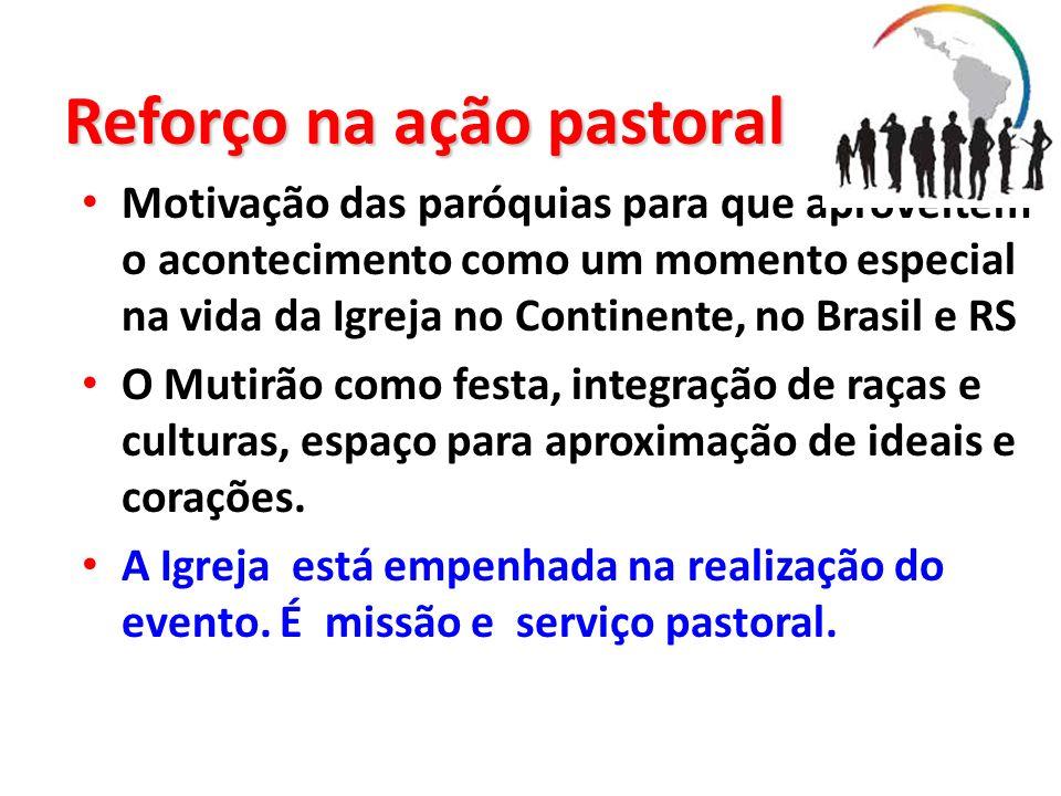 Reforço na ação pastoral
