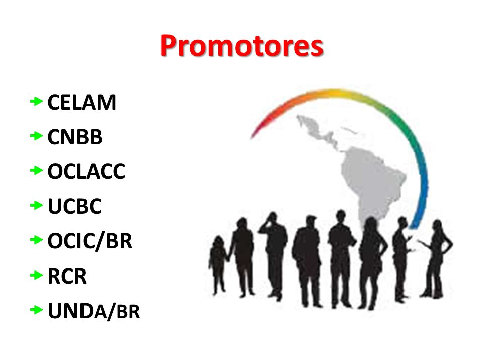 Promotores CELAM CNBB OCLACC UCBC OCIC/BR RCR UNDA/BR