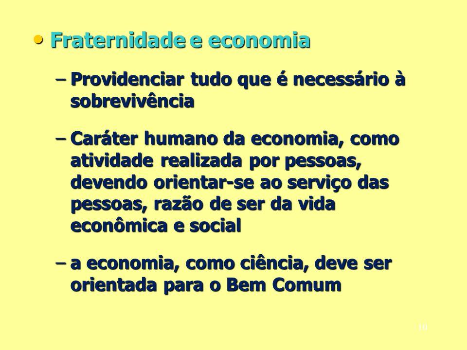 Fraternidade e economia
