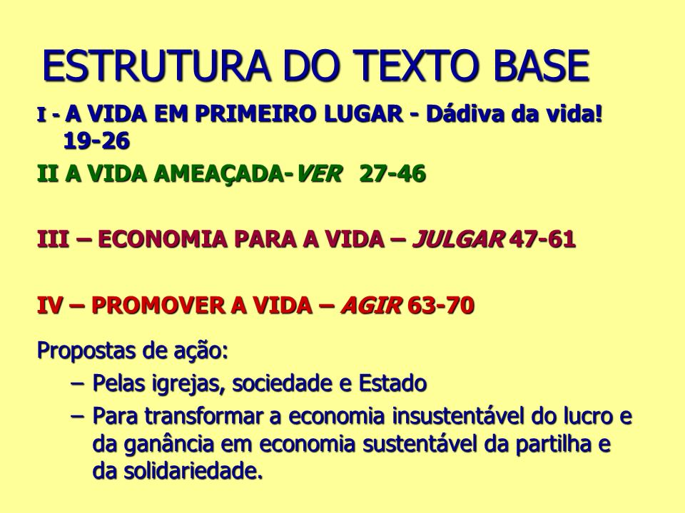 ESTRUTURA DO TEXTO BASE