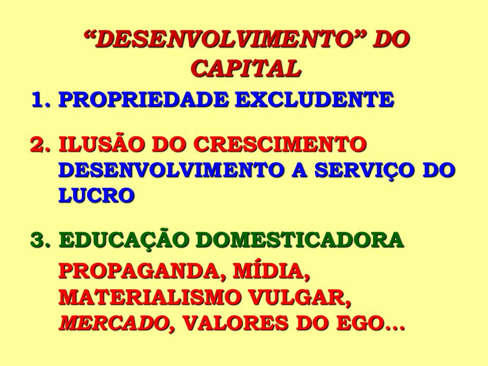 DESENVOLVIMENTO DO CAPITAL