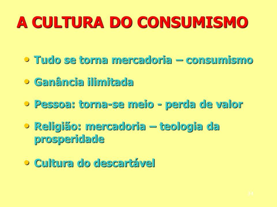 A CULTURA DO CONSUMISMO