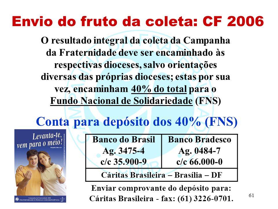 Envio do fruto da coleta: CF 2006