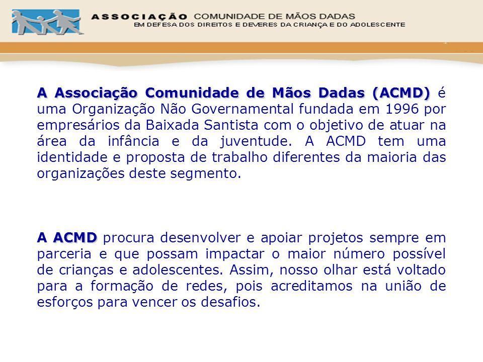 A Associação Comunidade de Mãos Dadas (ACMD) é uma Organização Não Governamental fundada em 1996 por empresários da Baixada Santista com o objetivo de atuar na área da infância e da juventude. A ACMD tem uma identidade e proposta de trabalho diferentes da maioria das organizações deste segmento.