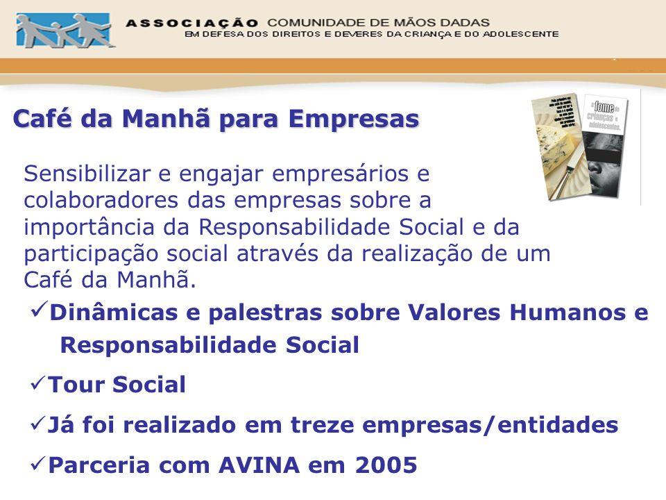 Dinâmicas e palestras sobre Valores Humanos e