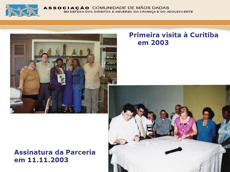 Assinatura da Parceria em 11.11.2003