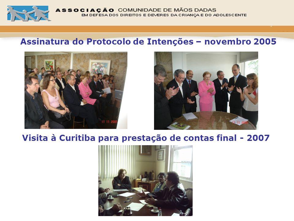 Assinatura do Protocolo de Intenções – novembro 2005