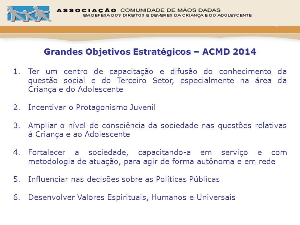 Grandes Objetivos Estratégicos – ACMD 2014