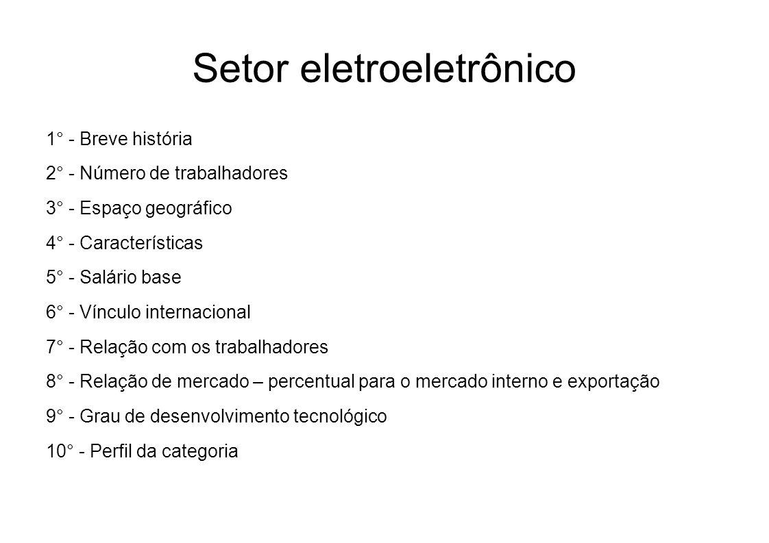 Setor eletroeletrônico