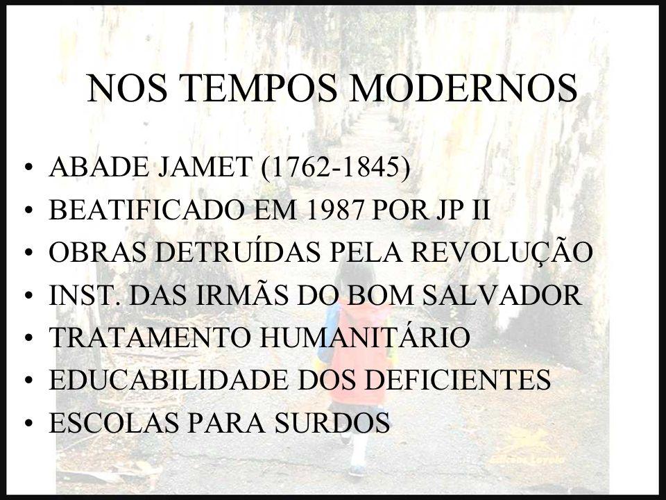 NOS TEMPOS MODERNOS ABADE JAMET (1762-1845)