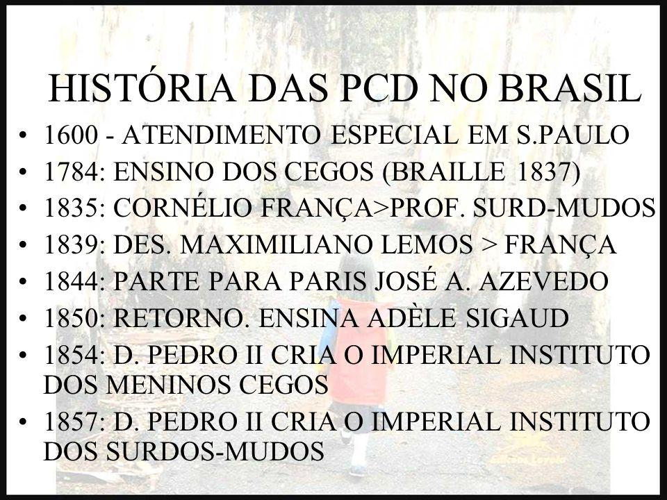 HISTÓRIA DAS PCD NO BRASIL