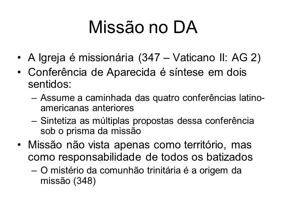 Missão no DA A Igreja é missionária (347 – Vaticano II: AG 2)