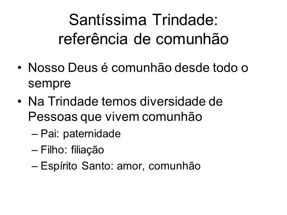 Santíssima Trindade: referência de comunhão