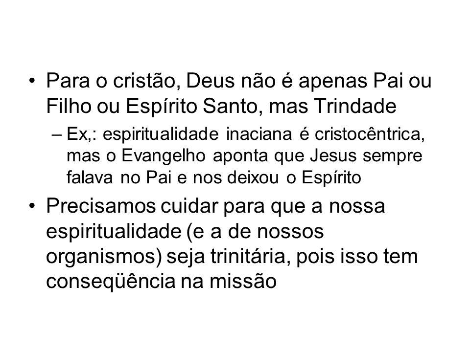 Para o cristão, Deus não é apenas Pai ou Filho ou Espírito Santo, mas Trindade