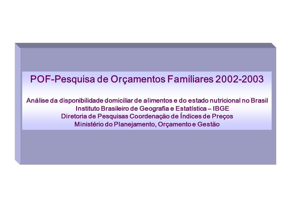POF-Pesquisa de Orçamentos Familiares 2002-2003