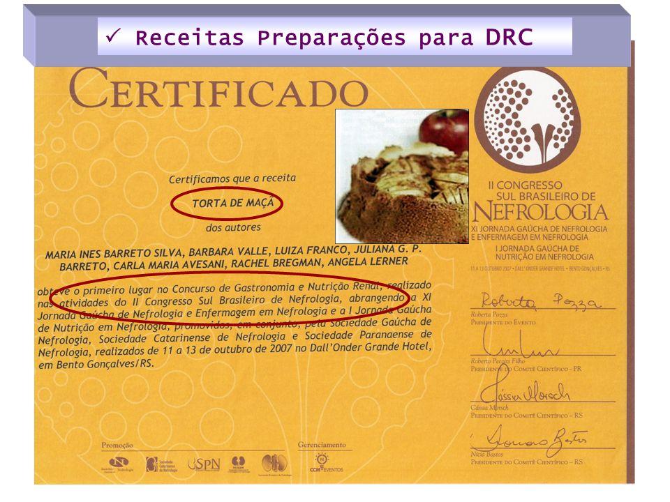  Receitas Preparações para DRC