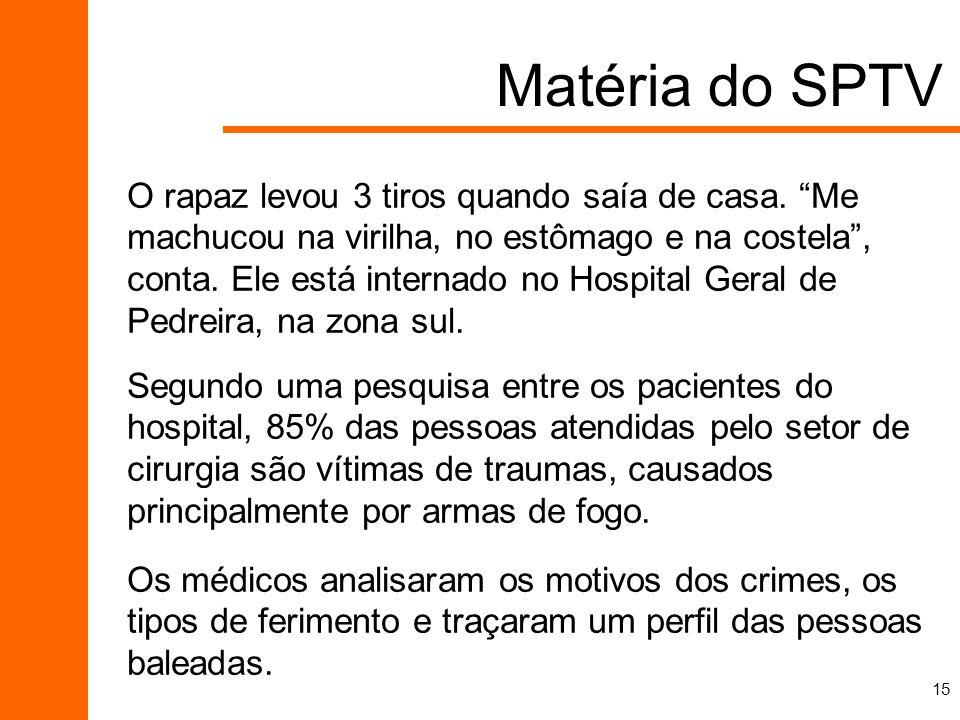 Matéria do SPTV