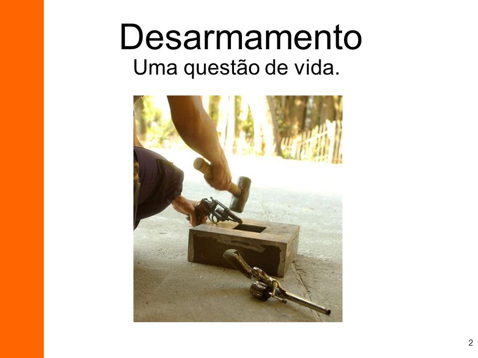 Desarmamento Uma questão de vida.