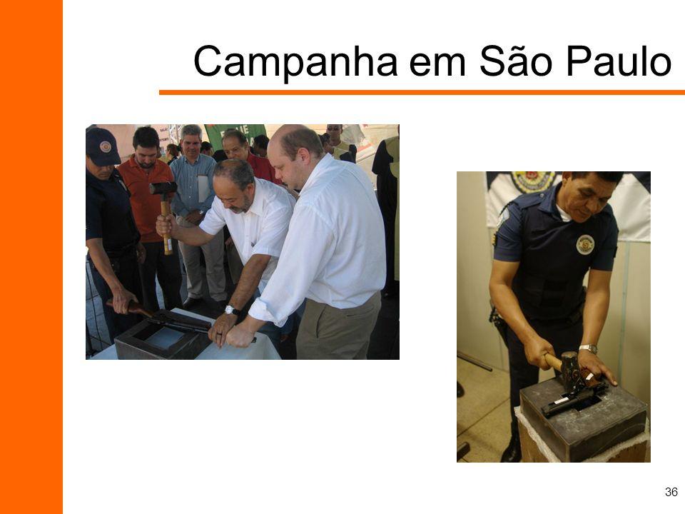 Campanha em São Paulo