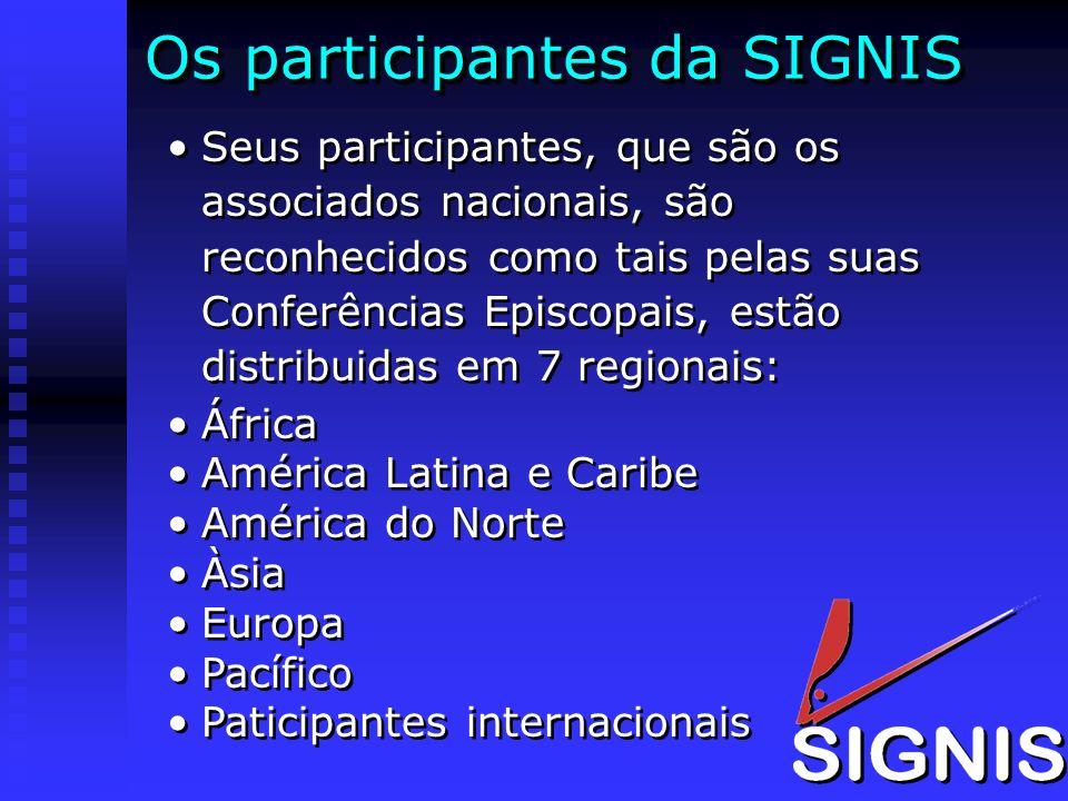 Os participantes da SIGNIS