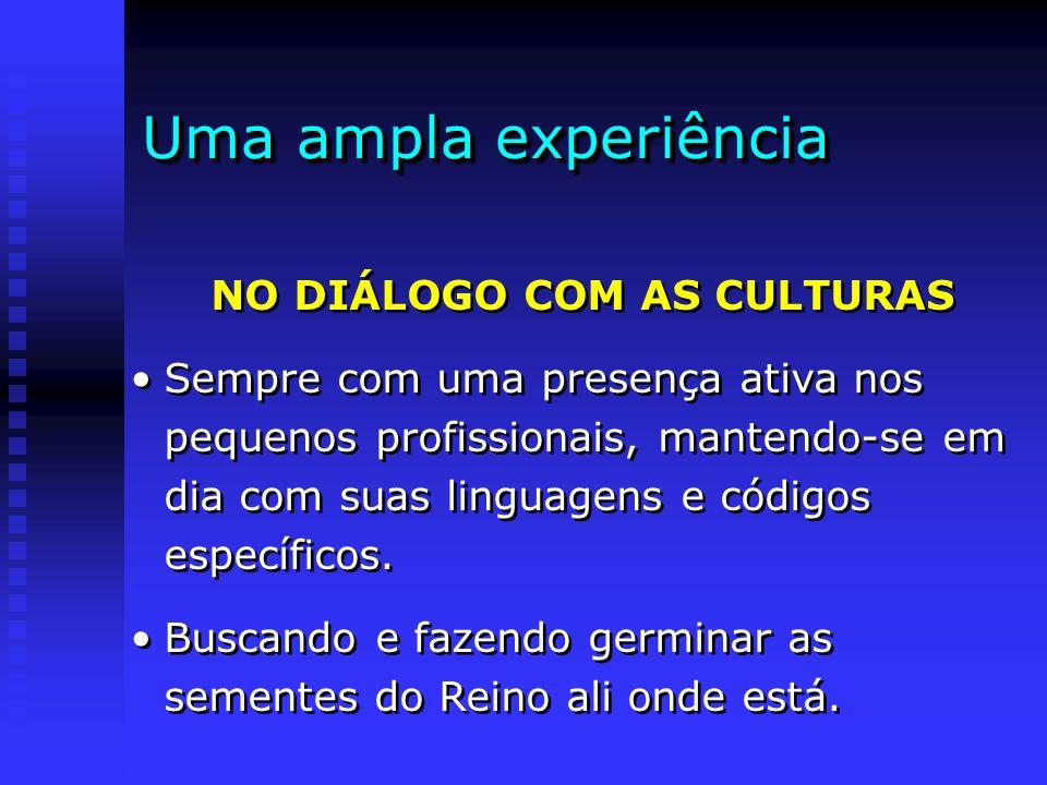 NO DIÁLOGO COM AS CULTURAS