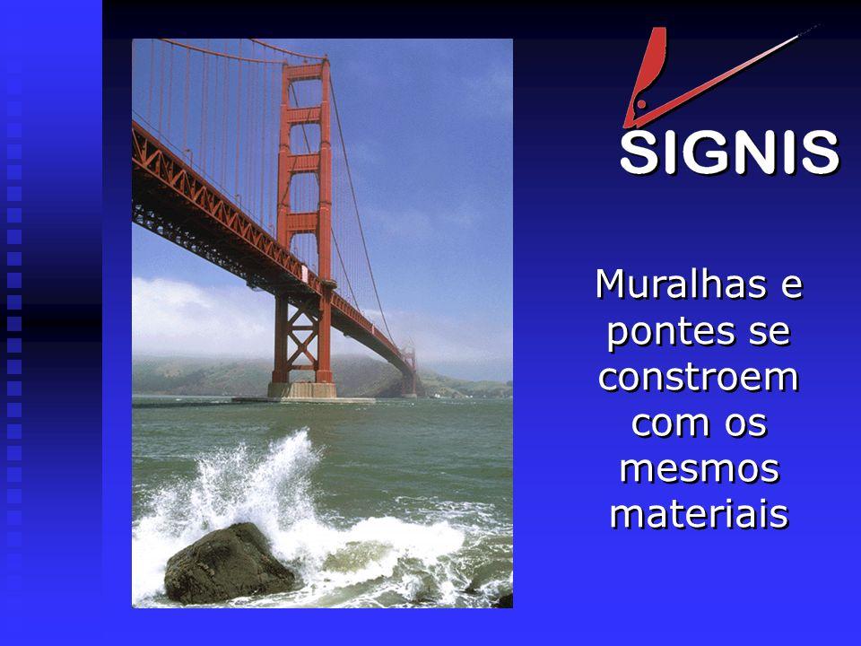 Muralhas e pontes se constroem com os mesmos materiais