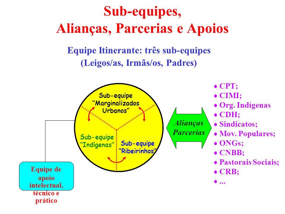 Sub-equipes, Alianças, Parcerias e Apoios