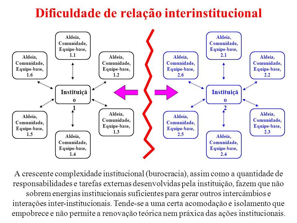 Dificuldade de relação interinstitucional